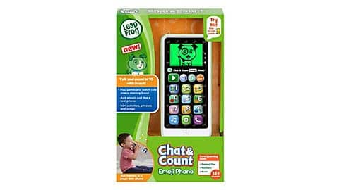 LeapFrog SG-Chat and Count Emoji Green Phone 2
