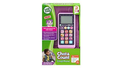 LeapFrog SG-Chat and Count Emoji Purple Phone 2