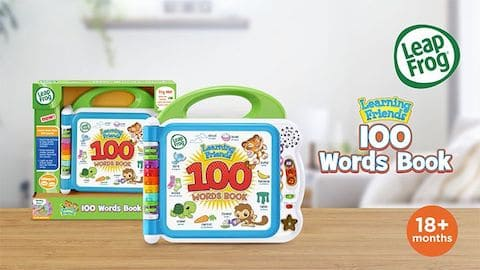 LeapFrog SG-Learning Friends 100 Words Book-Video