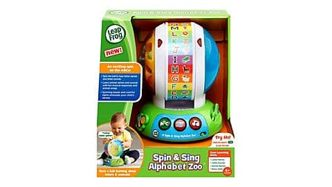 LeapFrog SG-Spin and Sing Alphabet Zoo 5