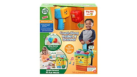 Count-Along Basket & Scanner   2 In 1 Shopping Trolley